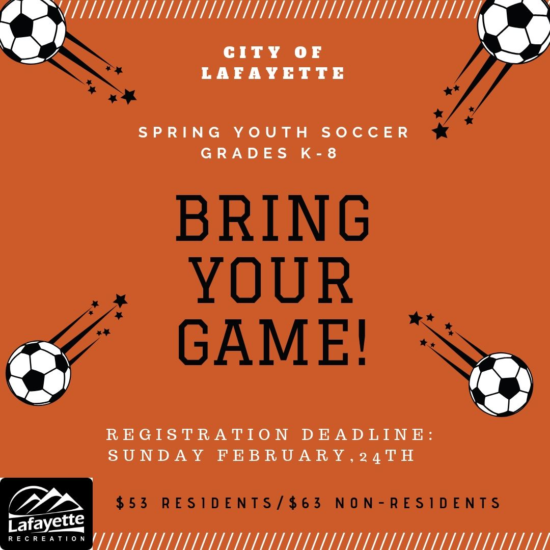 Youth Soccer Advertisement - Deadline is 2/24