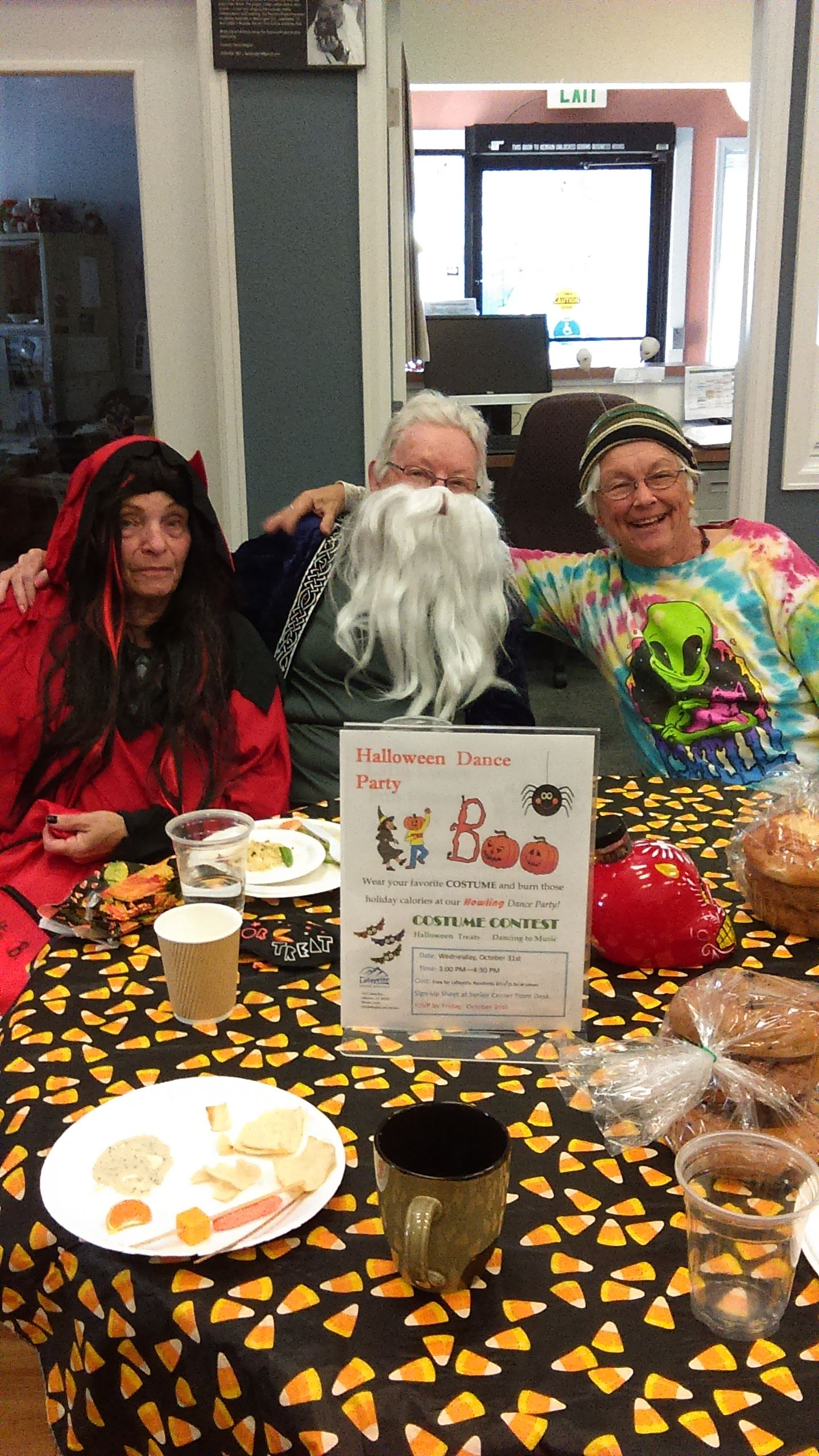 Senior Services Patrons at Halloween Party Dressed Up