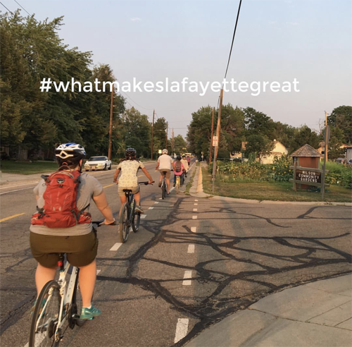 What makes Lafayette great on bikes