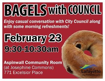 bagels with council Feb 23