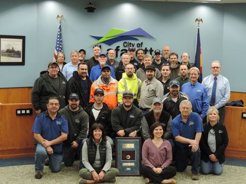 Public Works accreditation group photo