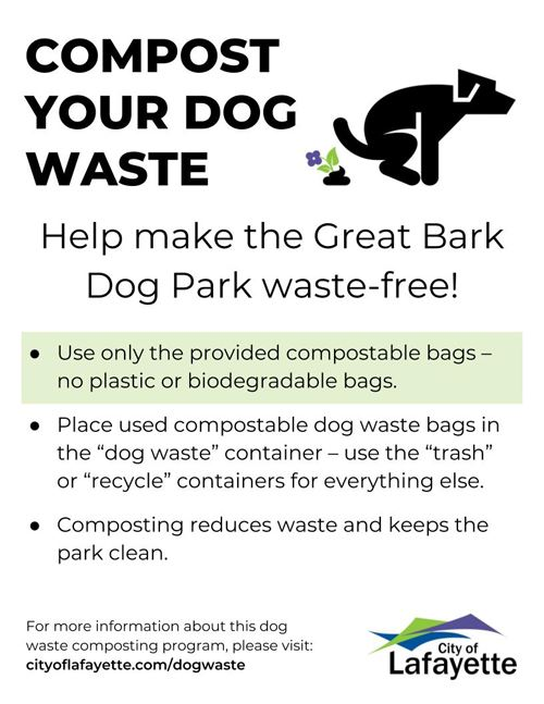 Dog Waste Composting poster