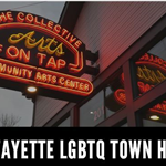 LGBTQ town hall graphic