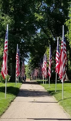 Memorial Day flags at the Lafayette Cemetery