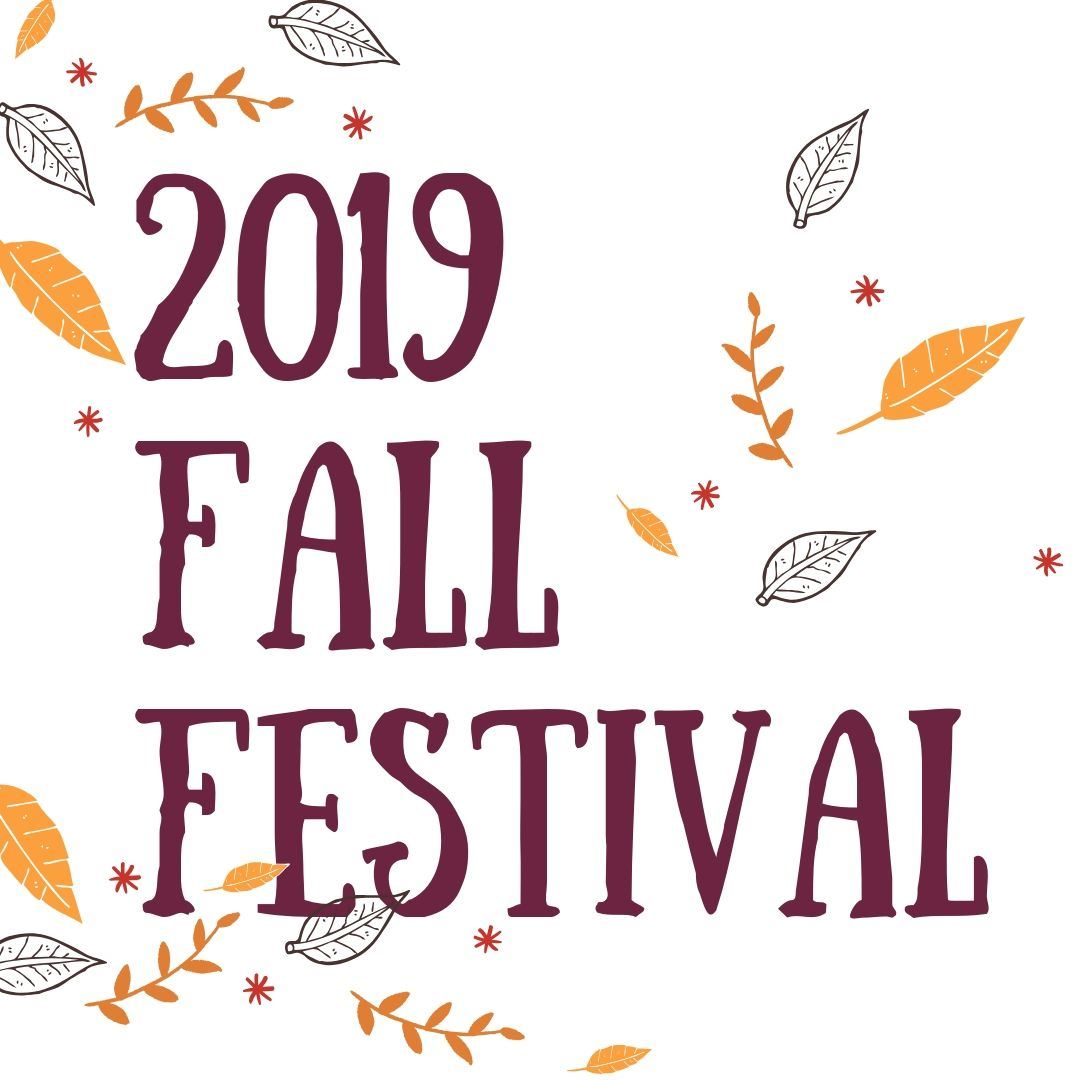 2019 Fall Festival, with leaves falling