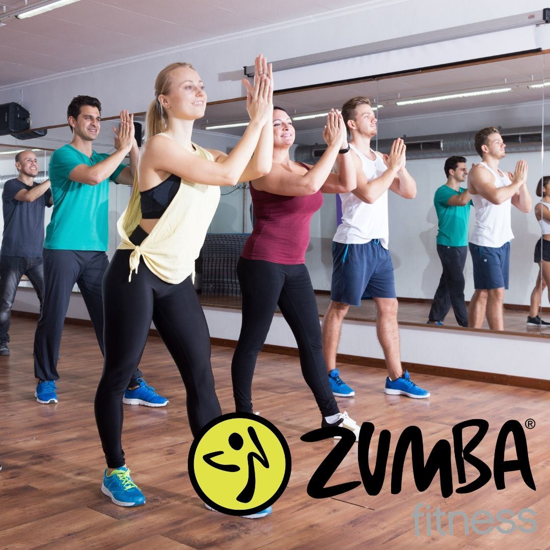 Group fitness class in Zumba