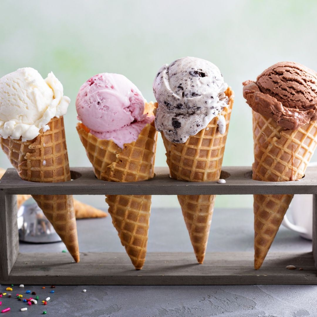 Image of ice cream cones