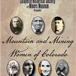 Mountain and mining women of Colorado graphic
