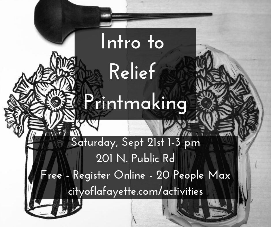 Relief Printmaking workshop taught by Jen Grant