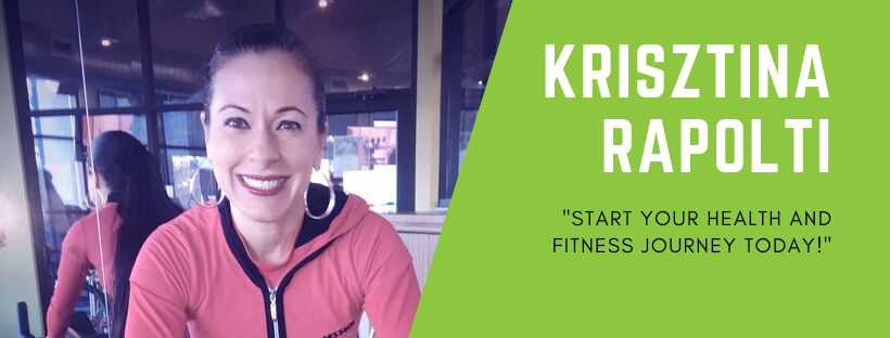 "Krisztina Rapolti, personal trainer, ""start your health & fitness journey today"""