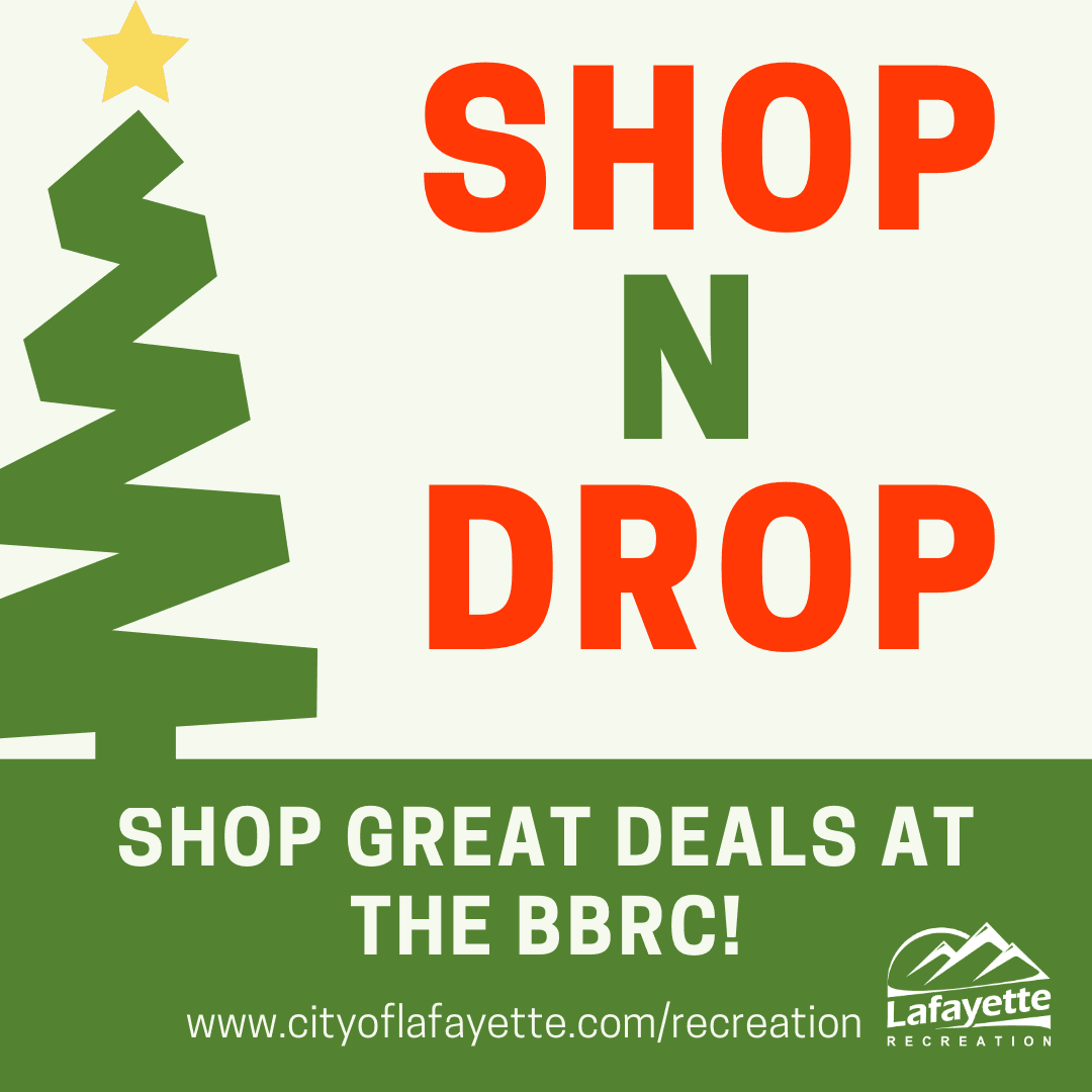 Graphic image of christmas tree, Shop-N-Drop