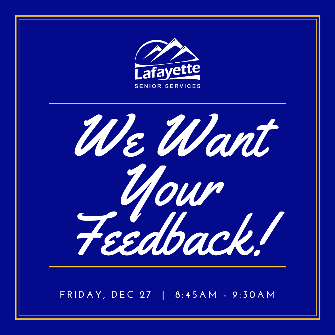 We Want Your Feedback!