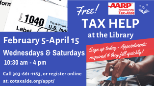 Call to schedule an AARP Tax Help appointment