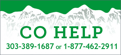 Colorado help line 303-389-1687 or 1-877-462-2911
