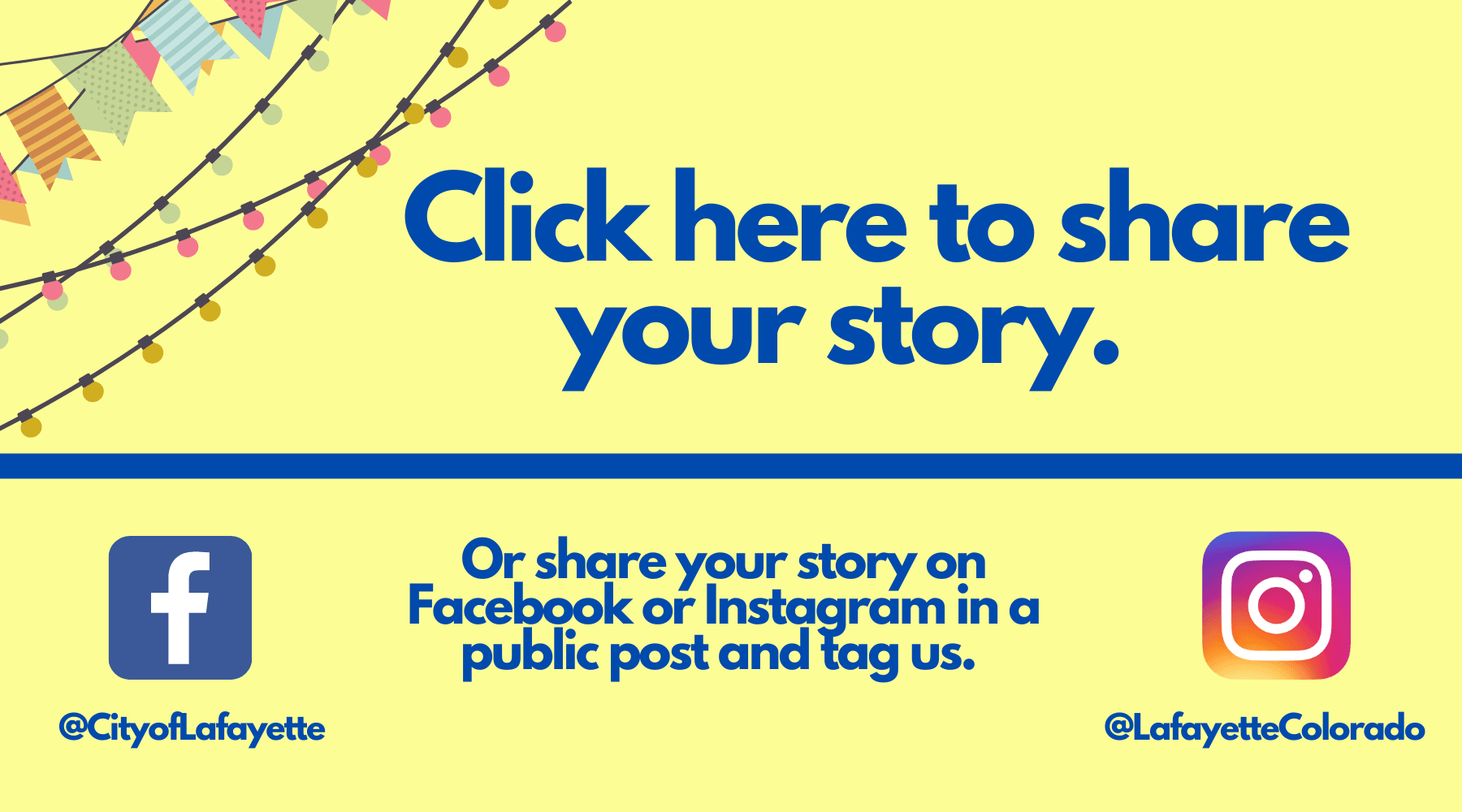 Click here to share your story