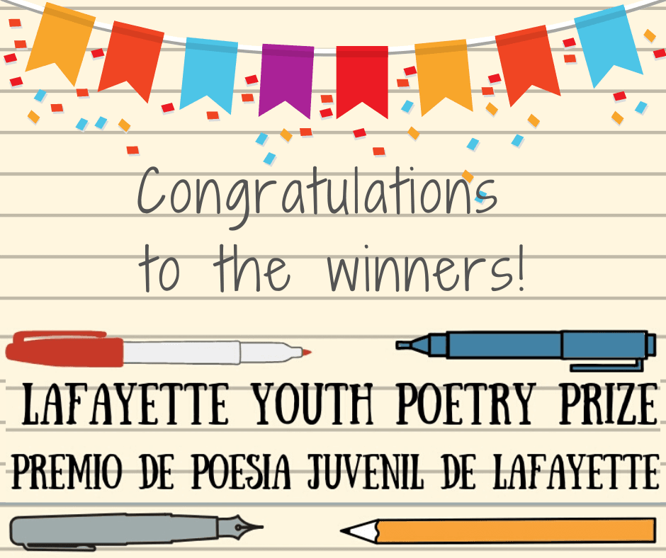 Congratulations to our youth poets