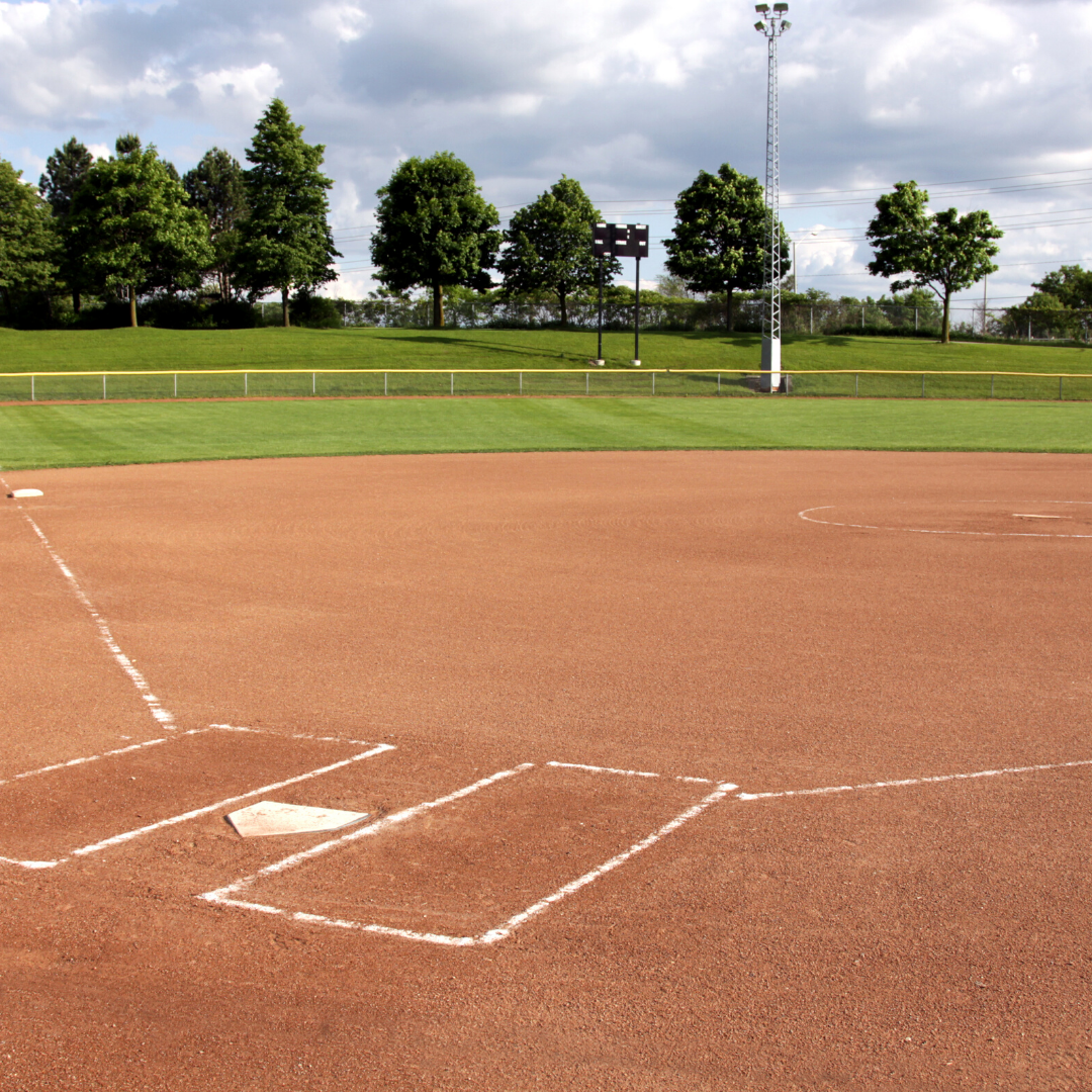 Empty softball field