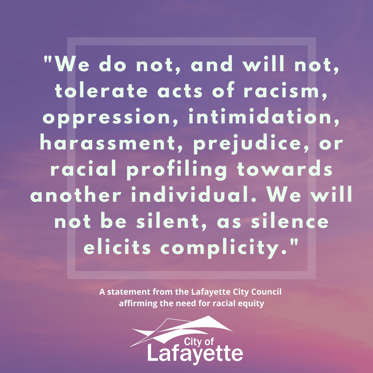 City Council Statement