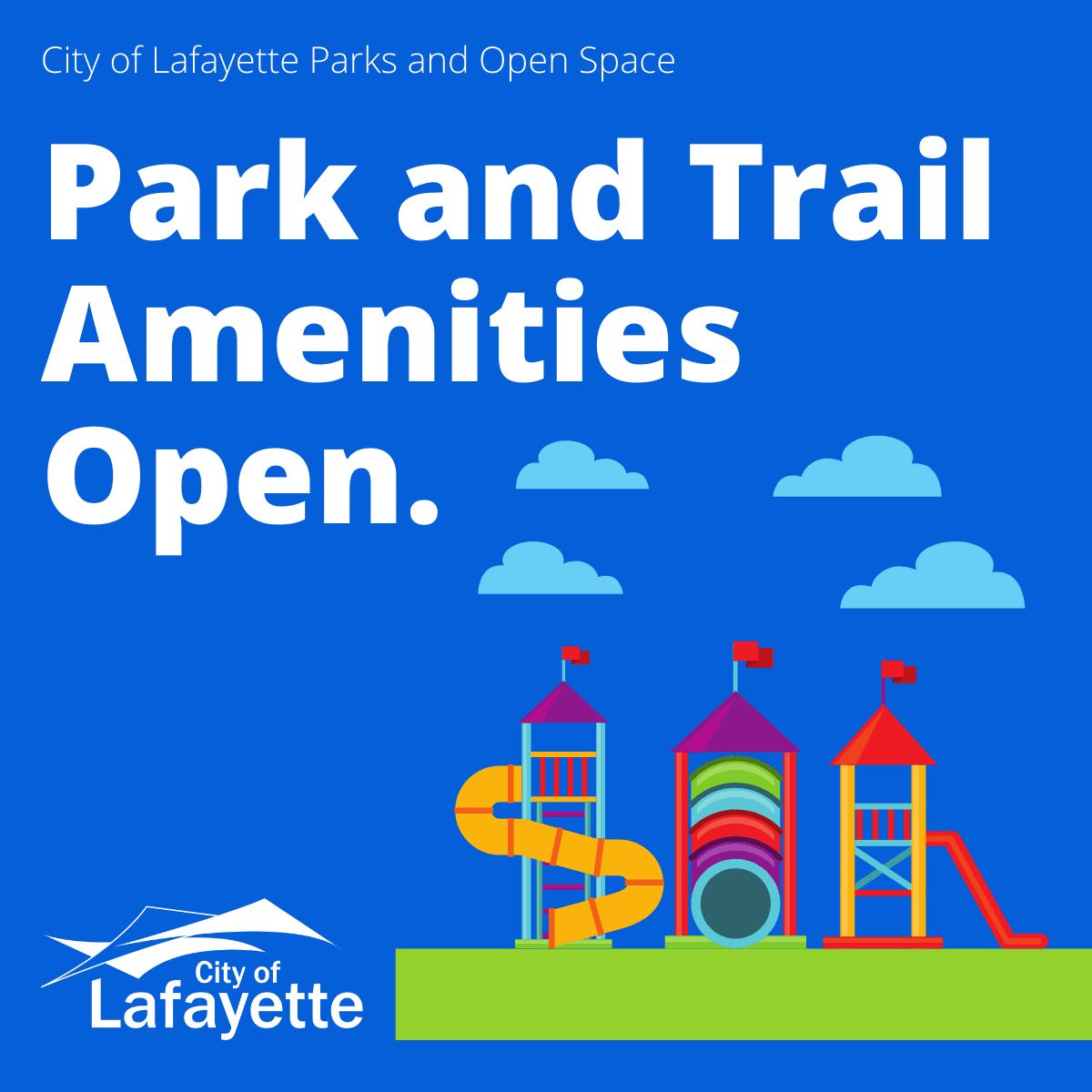 Park and trail amentities open