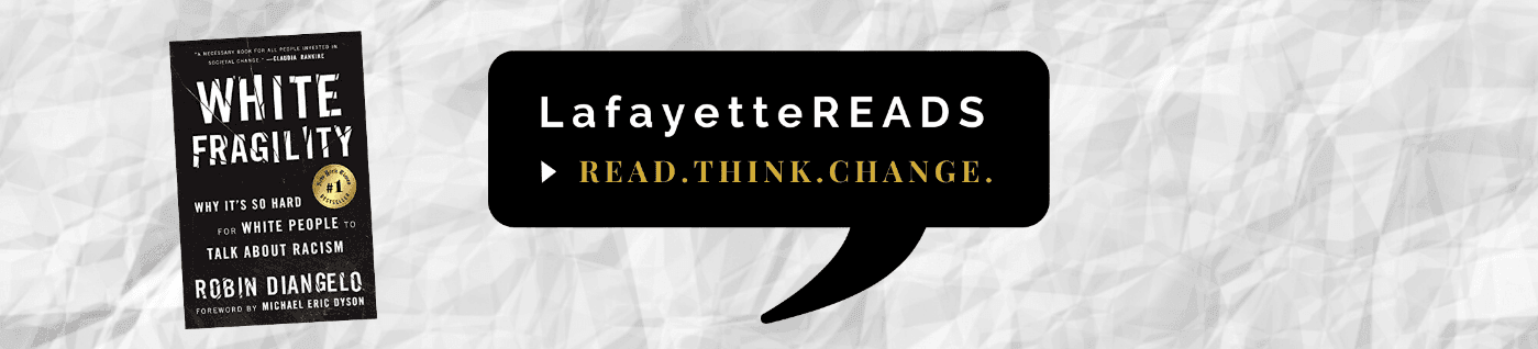 Learn about LafayetteREADS book selection for Fall 2020