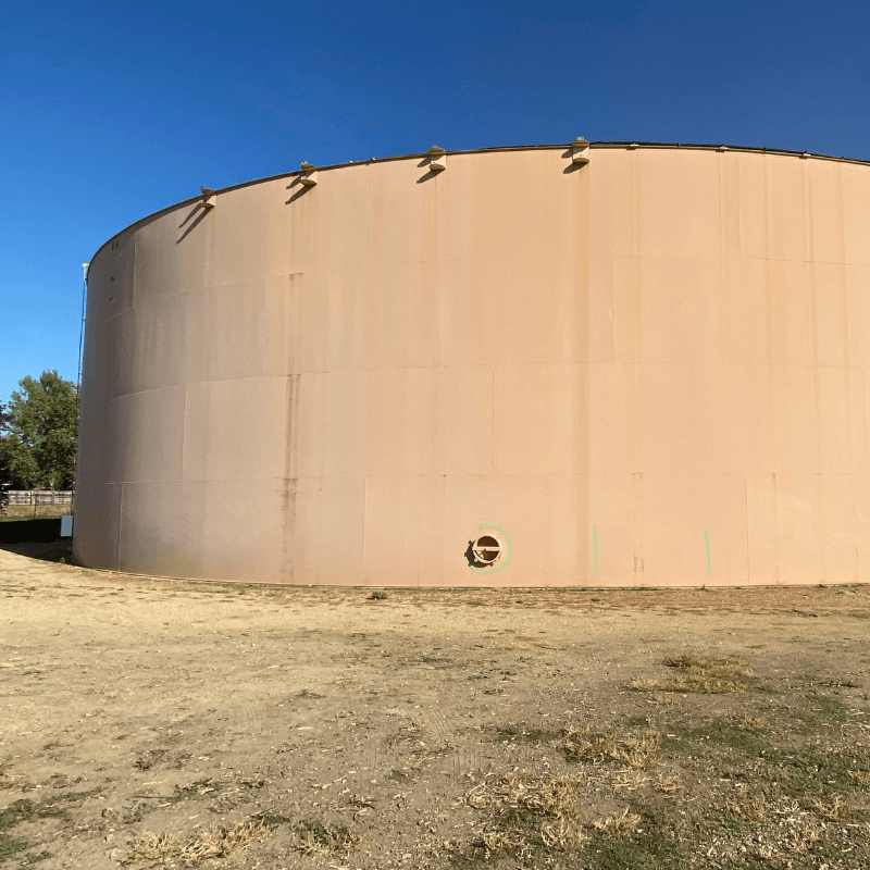 Water tank maintenance work at Sandpiper Drive/Waneka Lake Trail