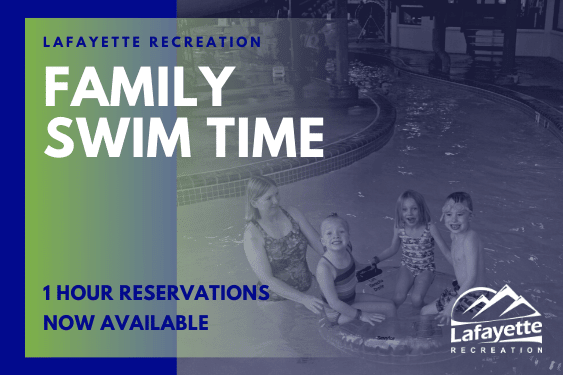 Family swim time, 1 hour reservations now available