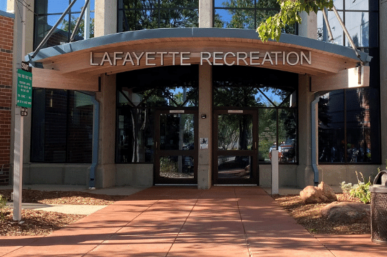 Lafayette Recreation entrance