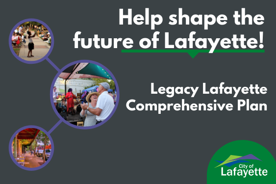 Follow the Legacy Lafayette Comp Plan news graphic