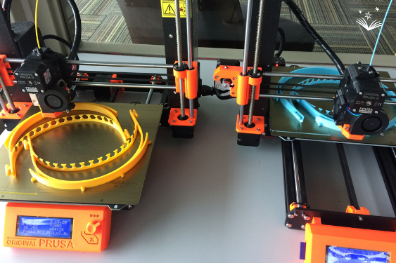 Makerspace projects on the Prusa 3D printer