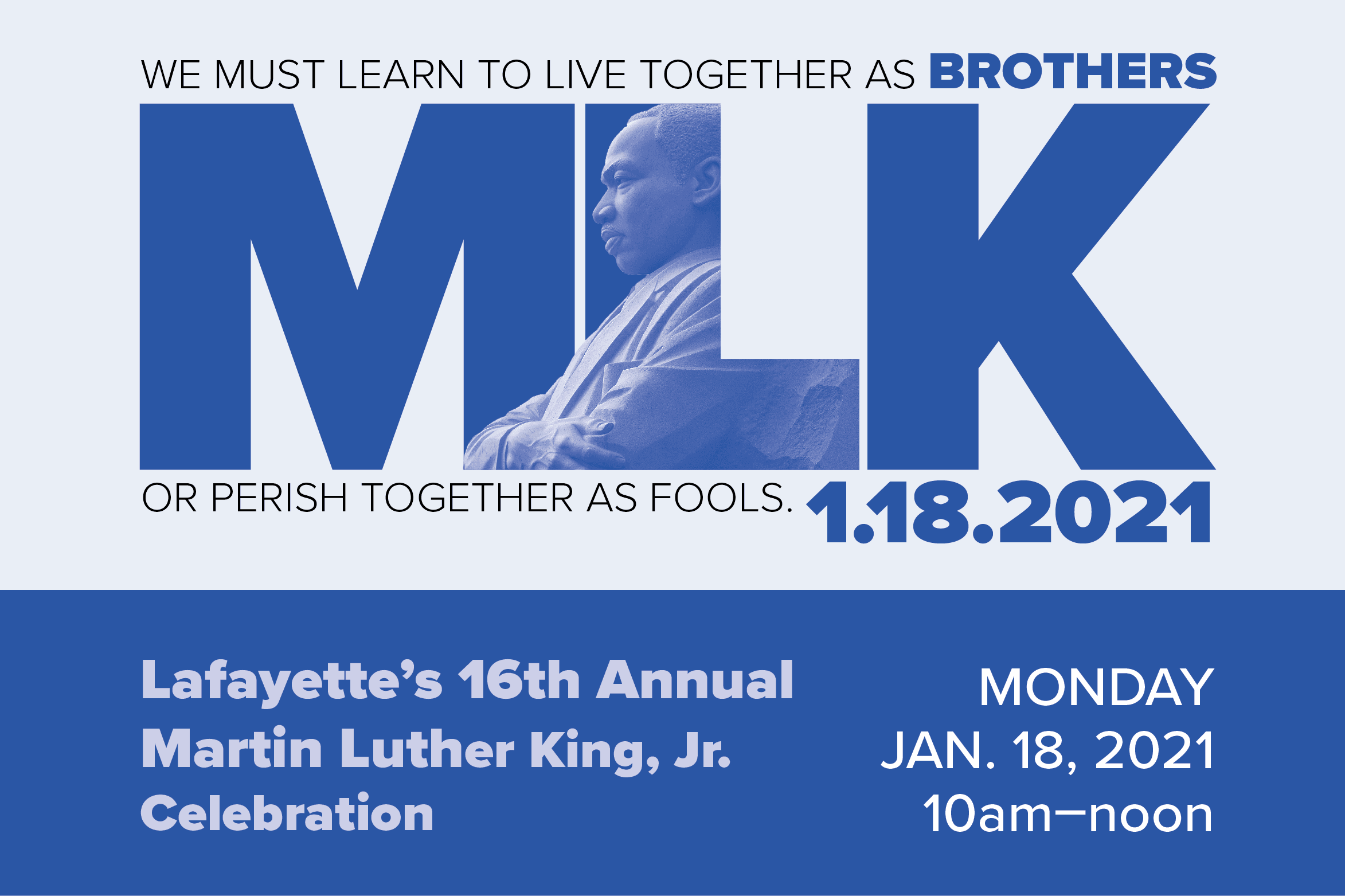 16th annual Martin Luther King Jr day celebration
