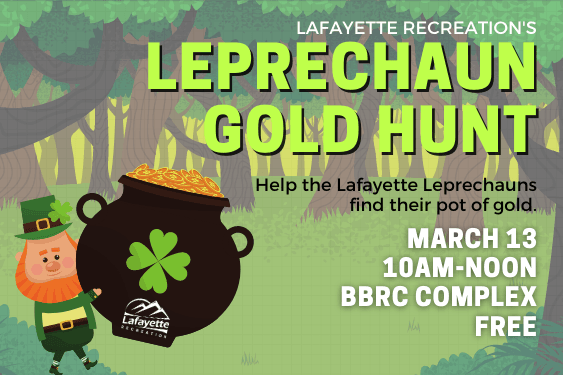 Leprechaun Gold Hunt, Mar. 13, 10am-noon, BBRC complex