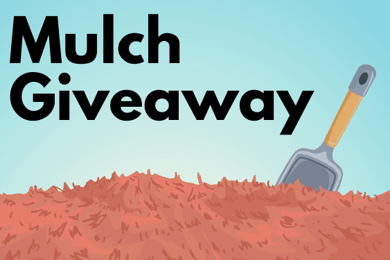 Mulch giveaway. Newsflash