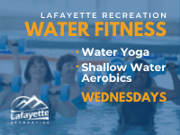 Lafayette Recreation water fitness wednesdays