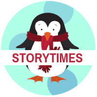 Winter Storytimes penguin graphic
