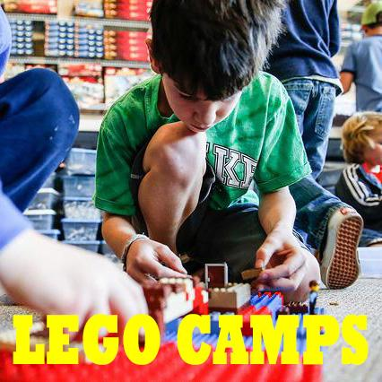 Lego Camps, image of child playing with legos