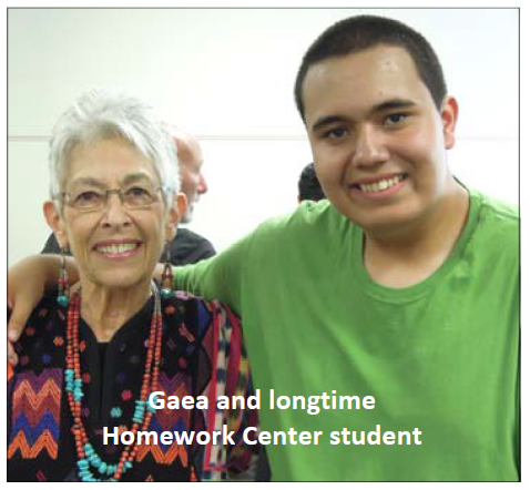 Gaea Shaw and longtime student