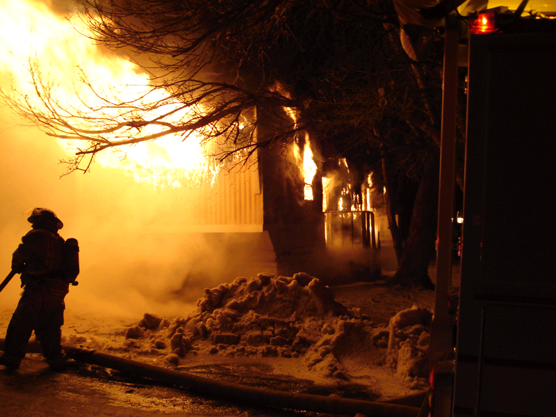 2007 mobile home fully involved. -10 degrees our with 12 inches of snow Louis Aloi