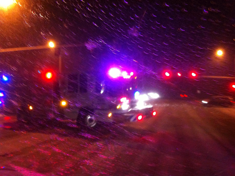 2011 Engine 1 running emergent in the snow storm