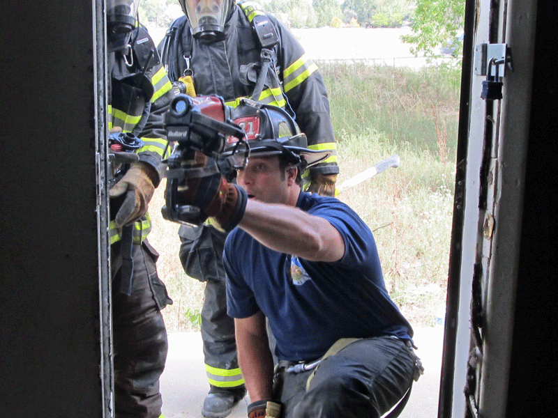 truck training using TIC to find hot spots