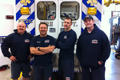 Chirs Brown, Louis Aloi, Doug Hurst, Adam Shockey posing for MoVember
