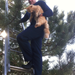 Doug Hurst rescues a cat up a tree