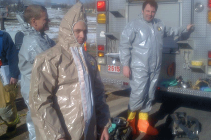 Chris Brown on HazMat call out in level A suite