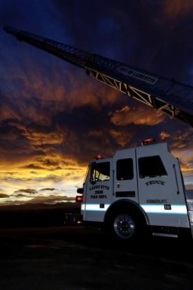 Truck 2617 at sunset landscape