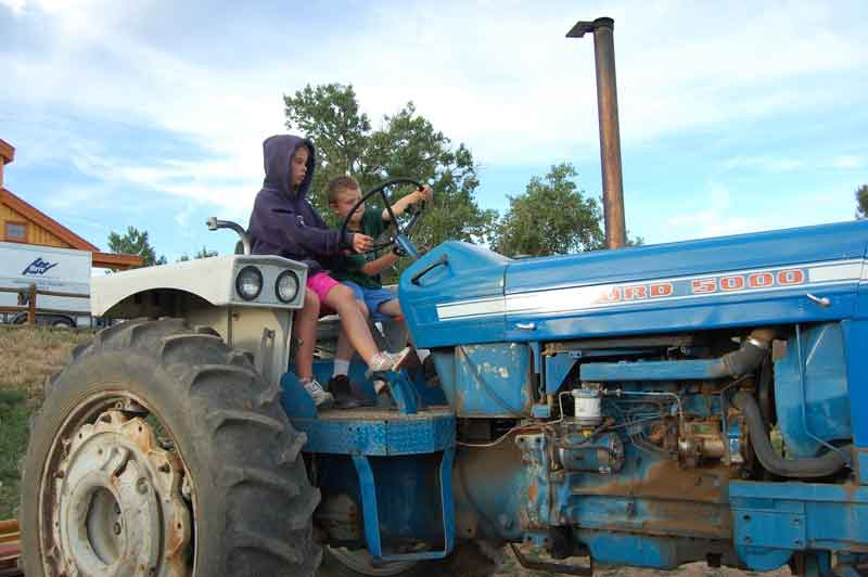 Tractor-and-kid