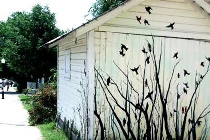 Branches and Birds Mural