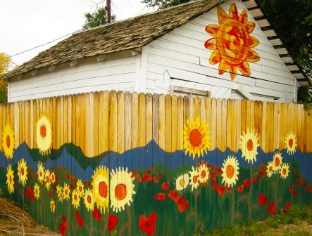 Flowers and Sun Mural