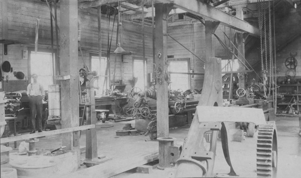 Simpson Mine machine shops, 1918.