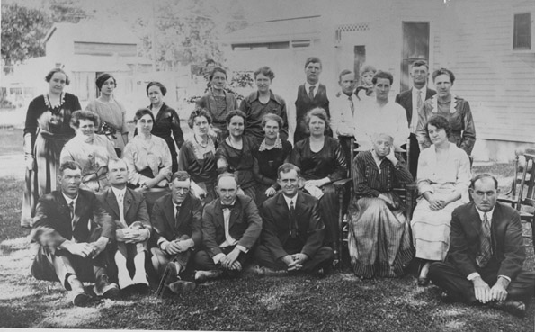Reunion of Lafayette's first school students, 1921