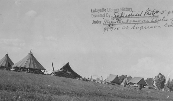 Militia camp at Superior during strike of 1910
