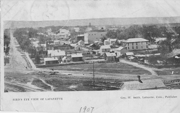 Bird's eye view of Lafayette